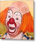 Watercolor Clown #9 Herky The Clown Metal Print