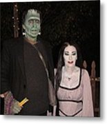 Herman And Lilly Munster Metal Print