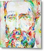 Herman Melville Watercolor Portrait.1 Metal Print