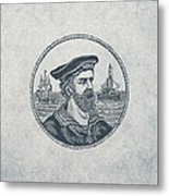 Hero Sea Captain - Nautical Design Metal Print
