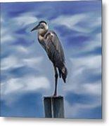 Heron 1 Metal Print