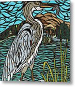 Heron On Connor Creek Metal Print