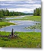 Heron Pond In Grand Teton National Park-wyoming   Metal Print