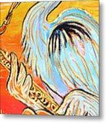 Heron The Blues Metal Print