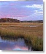 Herring River Marsh Cape Cod Autumn Sunset Metal Print