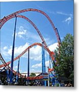 Hershey Park - Storm Runner Roller Coaster - 12125 Metal Print by DC Photographer