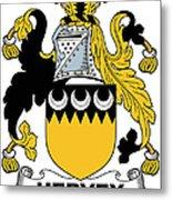 Hervey Coat Of Arms Irish Metal Print