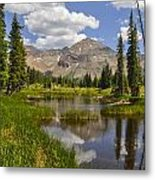 Hesperus Mountain Reflection Metal Print by Aaron Spong