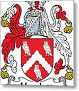 Hewlett Coat Of Arms Irish Metal Print