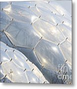 Hexigon Biomes Domes At Eden Metal Print