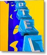 Hi-lander Motel Metal Print by Gail Lawnicki