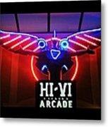 Hi-vi Arcade Metal Print