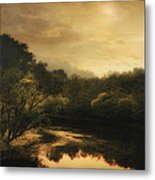 Hiawassee River At Dawn Metal Print by William Schmid