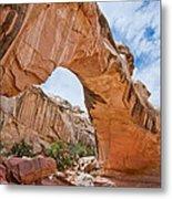 Hickman Bridge Natural Arch Metal Print