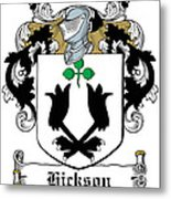 Hickson Coat Of Arms I Kerry Ireland Metal Print