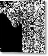 Hidden By Da Mask Metal Print