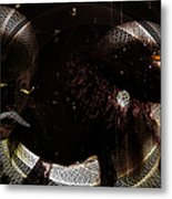 Hidden Faces-featured In Newbies And Visions Of The Night Metal Print