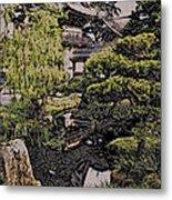 Hidden Pagoda Metal Print