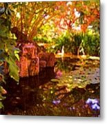 Hidden Pond Metal Print