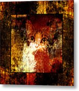 Hidden Square Metal Print by Andee Design