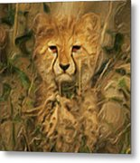 Hiding In The Tall Grass Metal Print