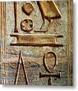 Hieroglyphics At Amada Metal Print