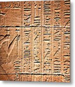 Hieroglyphs In The Temple Of Kalabsha  Metal Print
