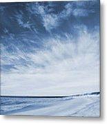 Higbee Beach Cyanotype Metal Print