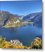 High Above Halstatt Metal Print