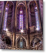 High Altar And Stained Glass Windows  Metal Print
