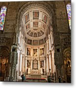 High Altar In Church Of Jeronimos Monastery Metal Print