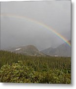 High Altitude Rainbow Landscape Metal Print