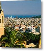 High Angle View Of A City, Barcelona Metal Print
