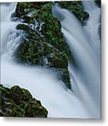 High Angle View Of A Waterfall, Sol Duc Metal Print