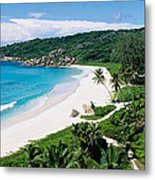 High Angle View Of The Beach, Grand Metal Print
