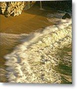 High Angle View Of Waterfall Metal Print