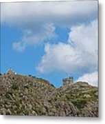 High As The Sky - Blue Sky - Cliffs Metal Print