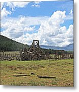 High Country Roundup The Old Days Metal Print