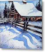 High Country Snow Metal Print