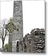 High Cross And Round Tower Monasterboice Metal Print