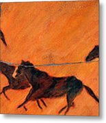 High Desert Horses - Study No. 1 Metal Print