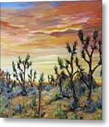 High Desert Joshua Trees Metal Print