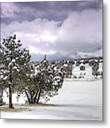 High Desert Snow Metal Print