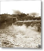 High Falls On The Genesee River Rochester New York At Flood Stage Circa 1904 Metal Print