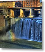 High Falls Rainbow Metal Print