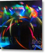 High Frequency Glow Metal Print
