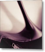 High Heel Of A Brown Shoe Metal Print