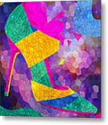 High Heels On Ropes Metal Print