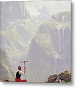 High In The Mountains Metal Print