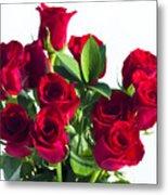 High Key Red Roses Metal Print